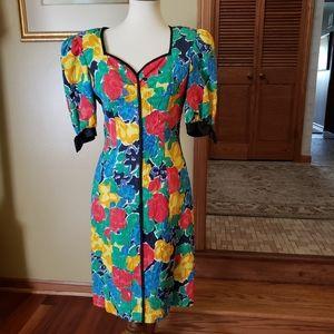 Vintage 70s Diane Dickinson for SFA Floral Dress